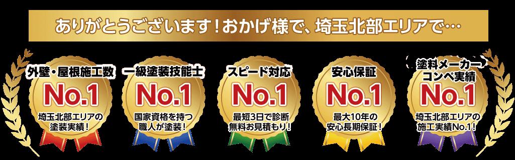 ありがとうございます!おかげ様で、埼玉北部エリアで…