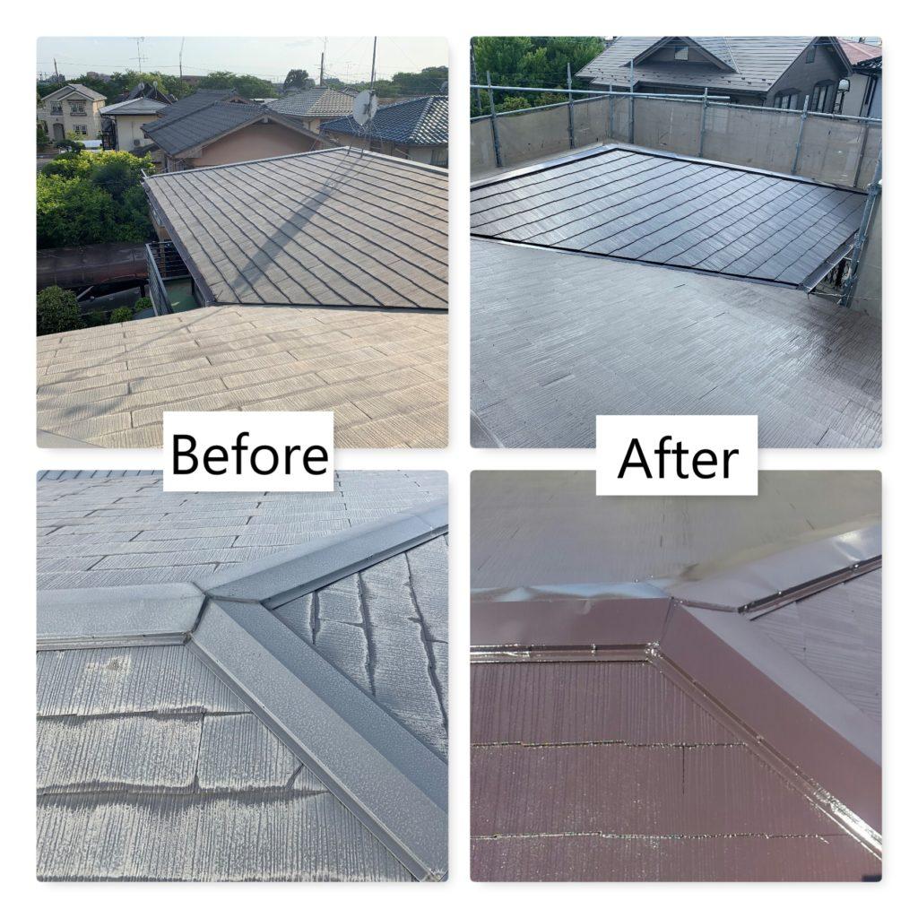 屋根塗装 施工前 施工後