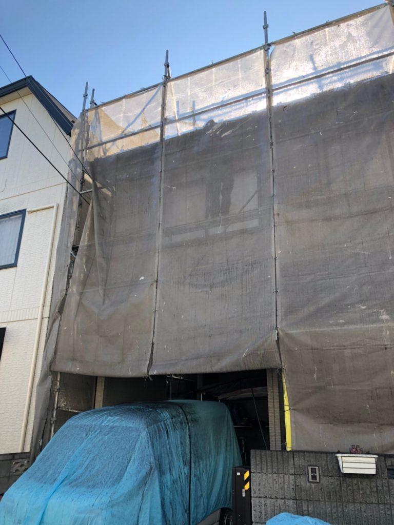 埼玉県 さいたま市 屋根塗装 外壁塗装 バイオ高圧洗浄 高圧洗浄 洗浄 養生シート