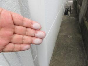 外壁塗装 施工前 埼玉県 久喜市 白岡市 蓮田 伊奈 外壁補修 チョーキング現象