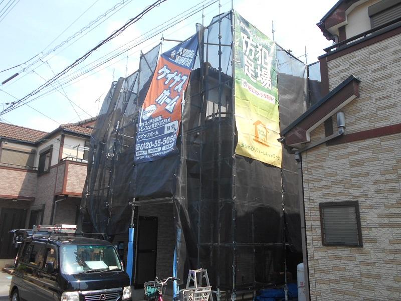 埼玉県 白岡市 屋根・外壁塗装工事『防犯足場』