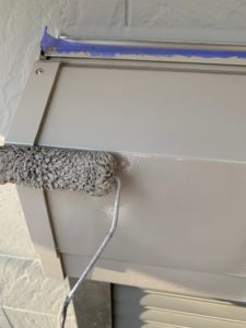 岩槻区外壁塗装 シャッターボックス2