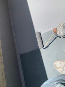 幸手市屋根外壁塗装 ベランダトップ