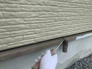 幸手市屋根外壁塗装 水切り塗装後