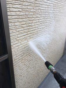幸手市屋根外壁塗装 外壁洗浄
