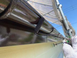 加須市屋根外壁塗装 雨どい塗装