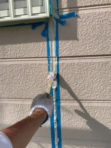 加須市屋根外壁塗装 シーリングならし