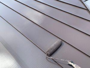 加須市屋根外壁塗装 屋根上塗り