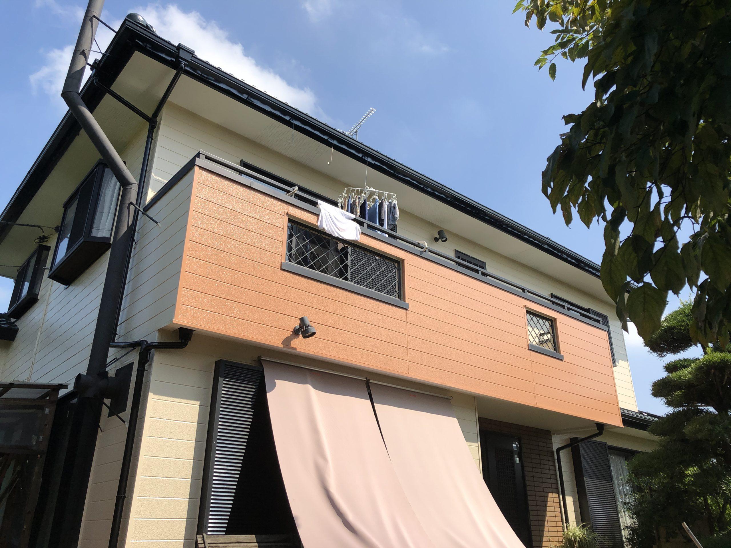 蓮田市屋根外壁塗装施工後1