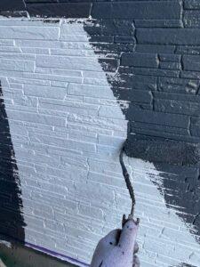 岩槻区T邸外壁中塗り