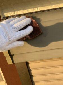 春日部市 外壁塗装 ケレン作業
