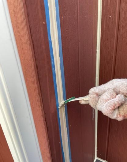 上尾市 外壁塗装 コーキング打ち込み