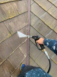 春日部市 屋根塗装 バイオ高圧洗浄