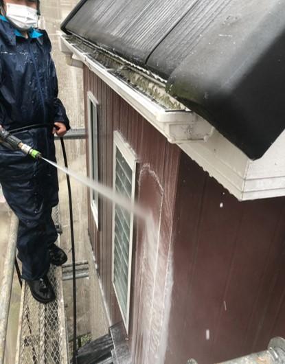 上尾市 外壁塗装 バイオ高圧洗浄