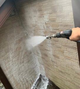 春日部市 外壁塗装 バイオ高圧洗浄