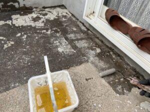 鴻巣市 ベランダ防水塗装 プライマー塗布