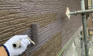 春日部市 外壁塗装 上塗り