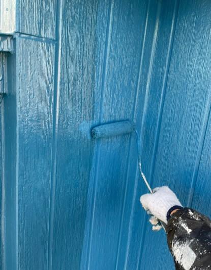 上尾市 外壁塗装 上塗り