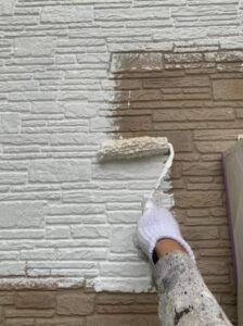春日部市 外壁塗装 下塗り