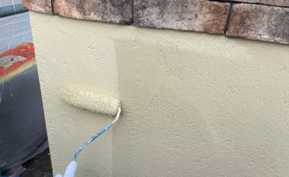 上尾市 塀塗装