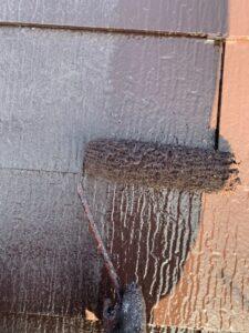久喜市 屋根塗装 上塗り