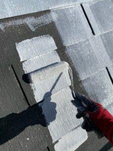 久喜市 屋根塗装 下塗り