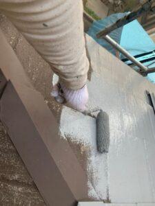 春日部市 屋根塗装 下塗り