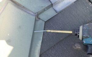 久喜市 屋根塗装 釘頭コーキング
