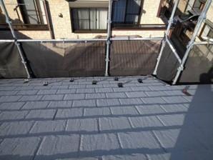 春日部市 屋根塗装 雪止め設置