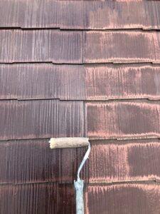 白岡市 屋根塗装 下塗り