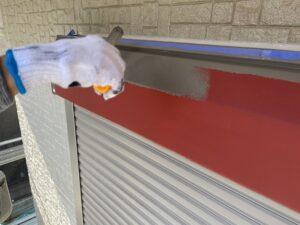 蓮田市 シャッターボックス塗装
