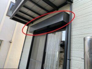 白岡市 鉄部 シャッターボックス 塗膜の劣化