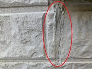 白岡市 外壁 サイディング コーキング劣化
