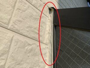 白岡市 外壁 サッシ周り コーキング劣化