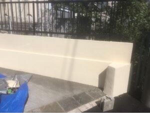 春日部市 外塀塗装 上塗り