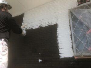 春日部市 外壁下塗り