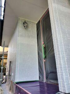 桶川市 外壁 下塗り後