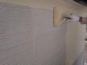 春日部市 外壁中塗り